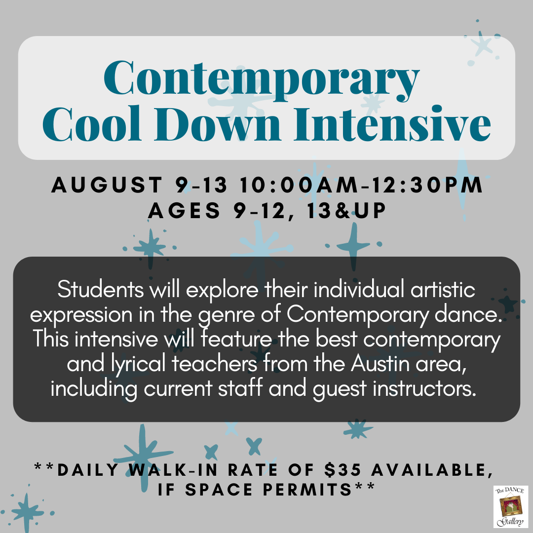 The Dance Galery Summer Camps 2021 Contemporary Cool-Down Intensive